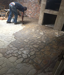 Paving mould patio