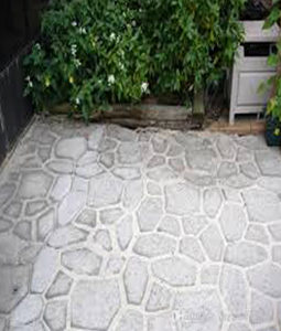DIY paving stencil cement PathWalker