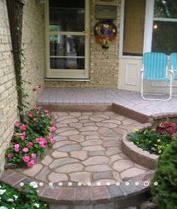DIY paving stencil cement Random