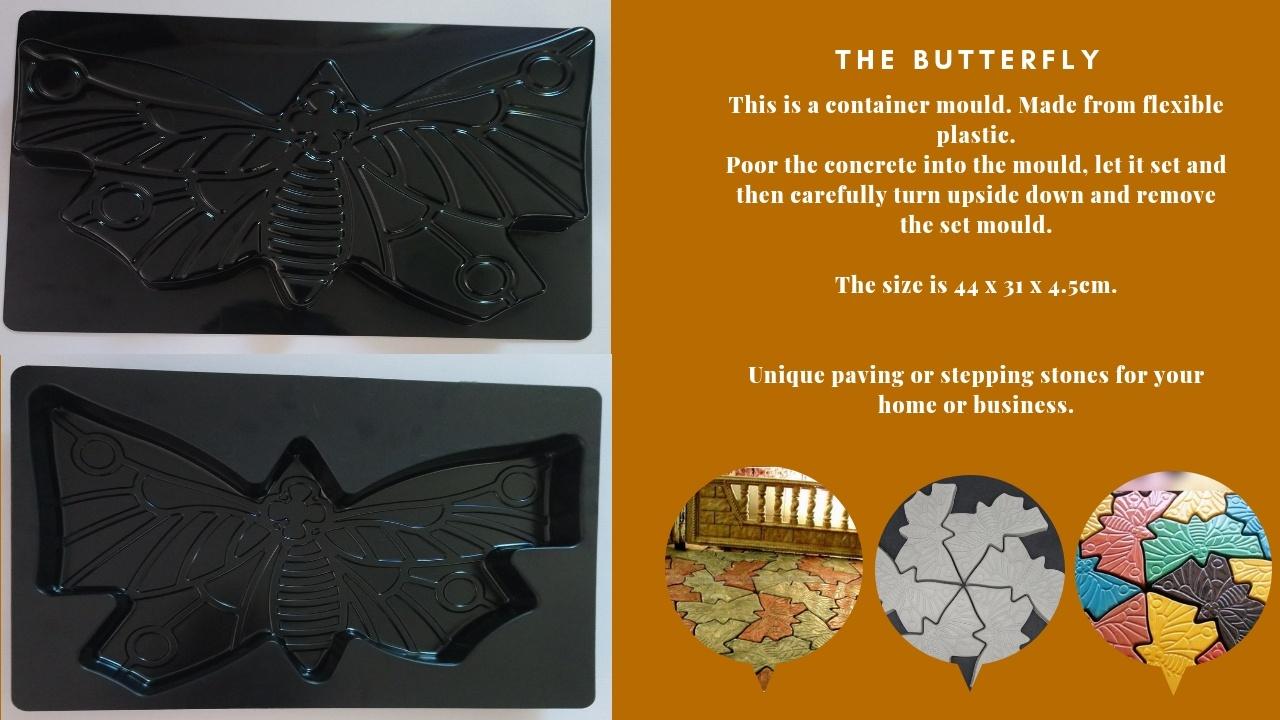 Butterfly Paving Mould DIY Path Brick Mould Plastic Floor Tile Cement Concrete Mould Stone Walking Path Maker Road Garden Supplies
