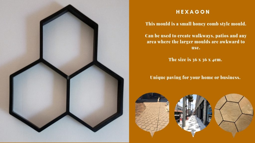 Hexagon pathmate Paving Mould DIY Path Brick Mould Plastic Floor Tile Cement Concrete Mould Stone Walking Path Maker Road Garden Supplies