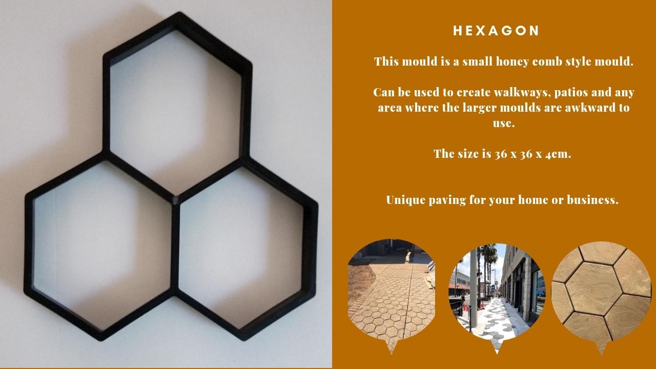 Hexagon pathmate Paving Mould DIY Path Brick Mould Plastic Floor Tile Cement Concrete Mould Stone Walking Path Maker Road Garden Supplies