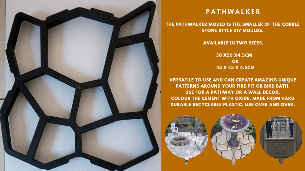 Pathwalker pathmate Paving Mould DIY Path Brick Mould Plastic Floor Tile Cement Concrete Mould Stone Walking Path Maker Road Garden Supplies